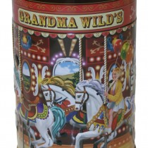 Small Embossed Nostalgic Carousel Tin 150g 6st