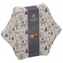 Christmas Star Clotted / Chocolate Fudge 350g 8bl