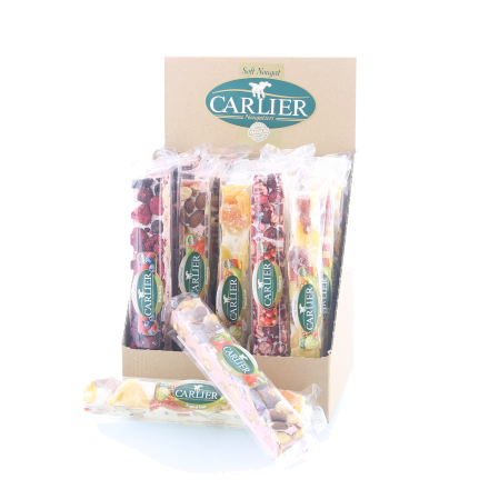 "Carlier DISPLAY luxe Nougat reep ""MIX Fruit"" 100gr"