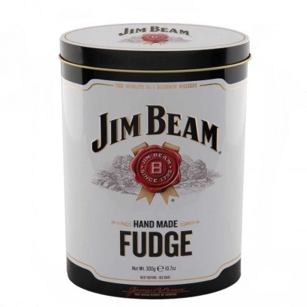 Jim Beam Bourbon Whiskey Fudge Tin 250gr
