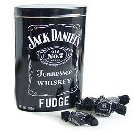 Jack Daniels Whiskey Fudge Tin 300gr